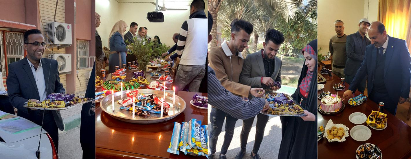 جانب من الافراح والاحتفالات بالمولد النبوي الشريف في كلية الزراعة