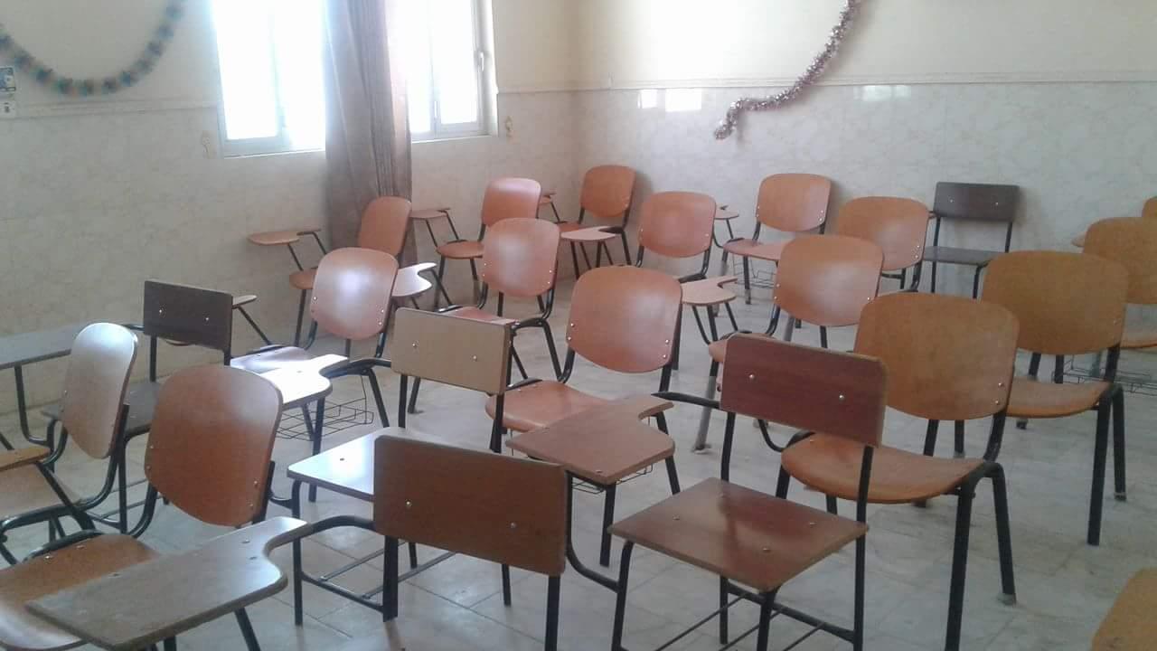 تهيئة وترتيب القاعات الدراسية للفصل الدراسي الثاني