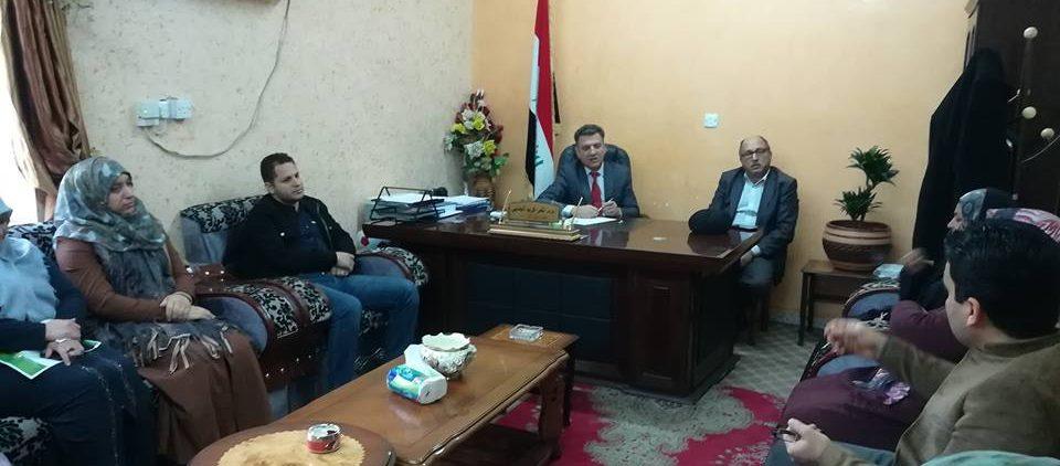 لقاءات السيد العميد المحترم أ.م.د ثامر كريم الجنابي المستمرة
