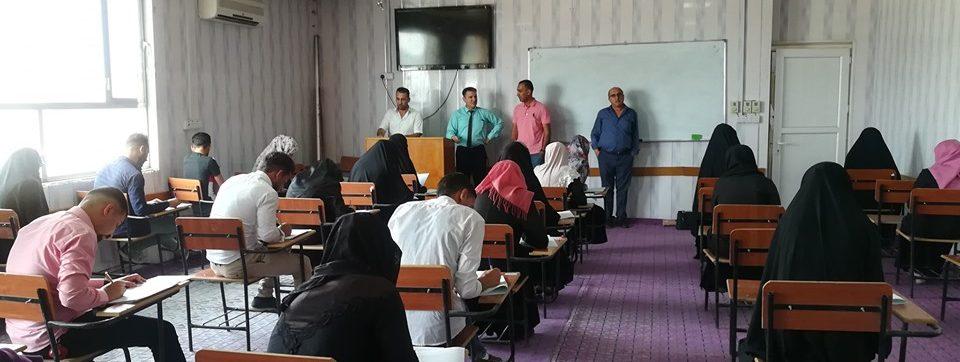 زيارة القاعات الامتحانية  من قبل السيد عميد كلية الزراعة المحترم